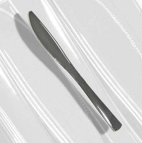 Einweg  Silbermesser , aus Kunststoff, silberfarben, 20cm, 50 St