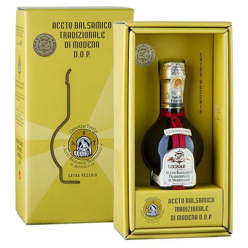 Aceto Balsamico Tradizionale DOP Extraveccio, 25 Jahre, Geschenkbox, Leonardi, 100 ml