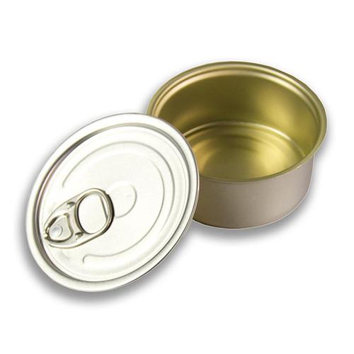 Dose mit Deckel zum Füllen, rund 5cm Ø, 3,5cm hoch, 80ml, Alu, säurebeständig, 1 St