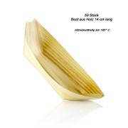 Einweg Boot aus Holz, 14cm, hitzebeständig bis 180° C, 50 St