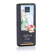 Apfelstrudel mit Vanille, Schokolade, handgeschöpfte Tafel, 75g
