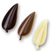Schokoladenaufleger Elegance,in Blattform, 64 Vollm., 48 Zartb., 48 Weiß,160 St., 205g, 160 St