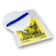 The Original Lemon Wraps, weiß mit blauer Krawatte, 100 St