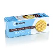 Barsnack Tresors - Crispy franz. Mini-Waffel-Cracker mit Meersalz, 95g