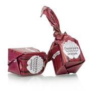 Mini Trüffelpralinen - Dolce d´Alba, extra dunkle Schokolade, ca.7g, schwarz/rot, 1 kg