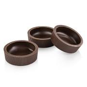 Dessertschale B aus dunkler Schokolade, 72x22mm h, Läderach, 1,7 kg, 96 St