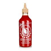 Chili-Sauce - Sriracha mit Knoblauch, scharf, Squeeze Flasche, Flying Goose, 455 ml