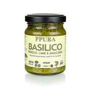 Ppura Pesto Basilico mit Limette und Cashewkernen, vegan, BIO, 120g