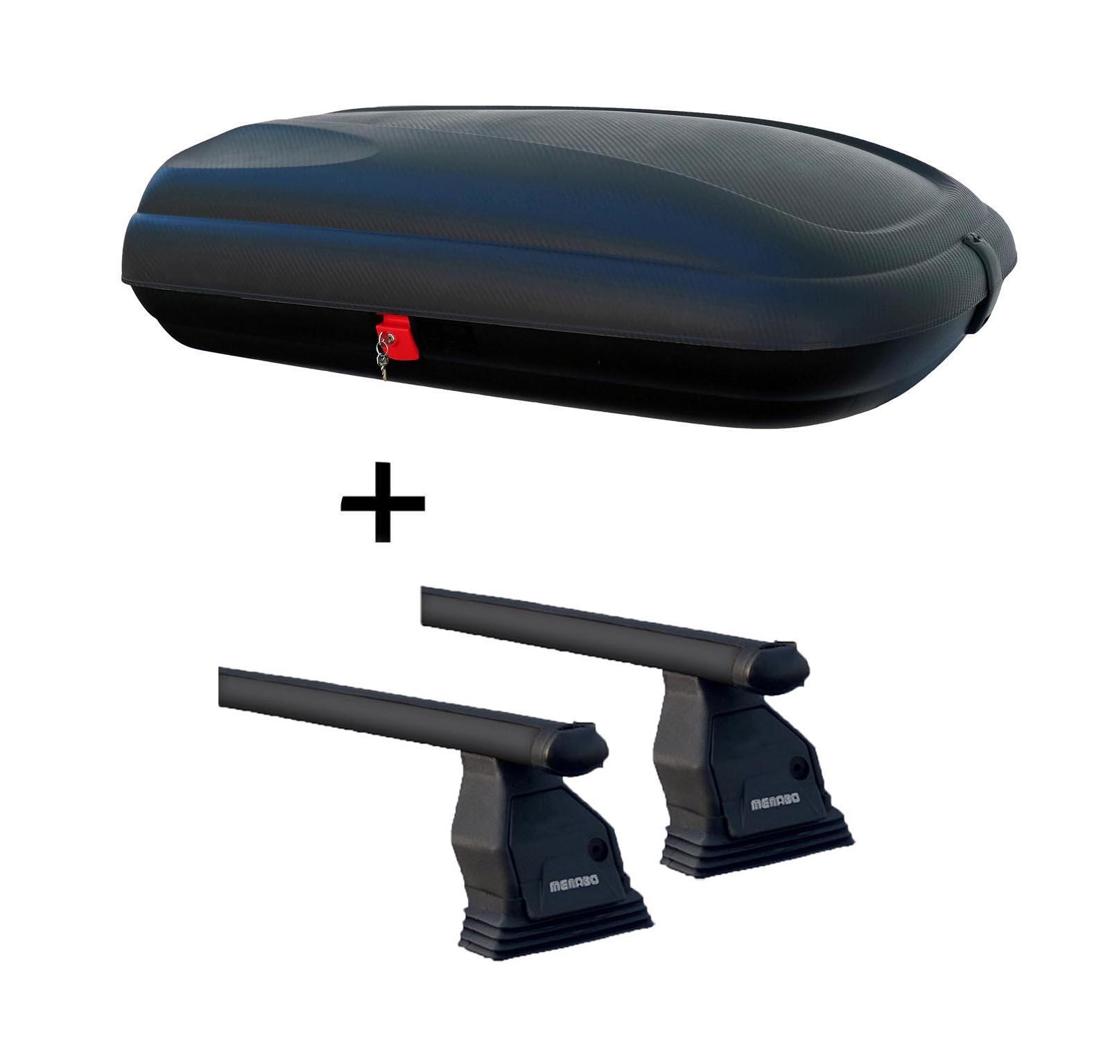 dachbox vdpba320l carbonlook dachtr ger tema f r ford focus c max 03 10 stahl ebay. Black Bedroom Furniture Sets. Home Design Ideas
