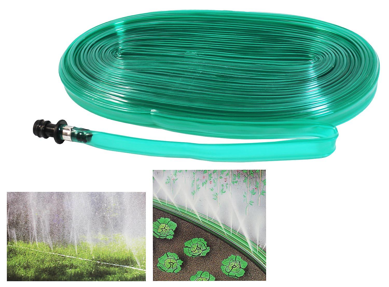 Schlauchregner 15m Sprühschlauch Bewässerungsschlauch flach Gartenschlauch