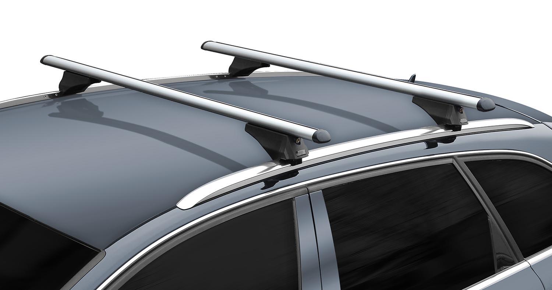 Alu Dachträger Tiger schwarz BMW X1 E84 2009-2015 für aufliegende Dachreling
