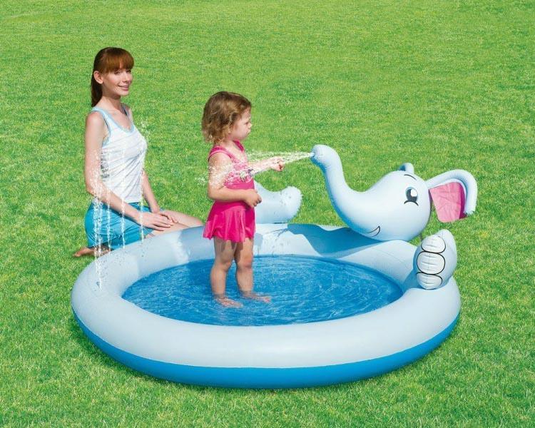 Elefant Spielpool Planschbecken Schwimmbecken Kinder Pool  Wasserspritzfunktion
