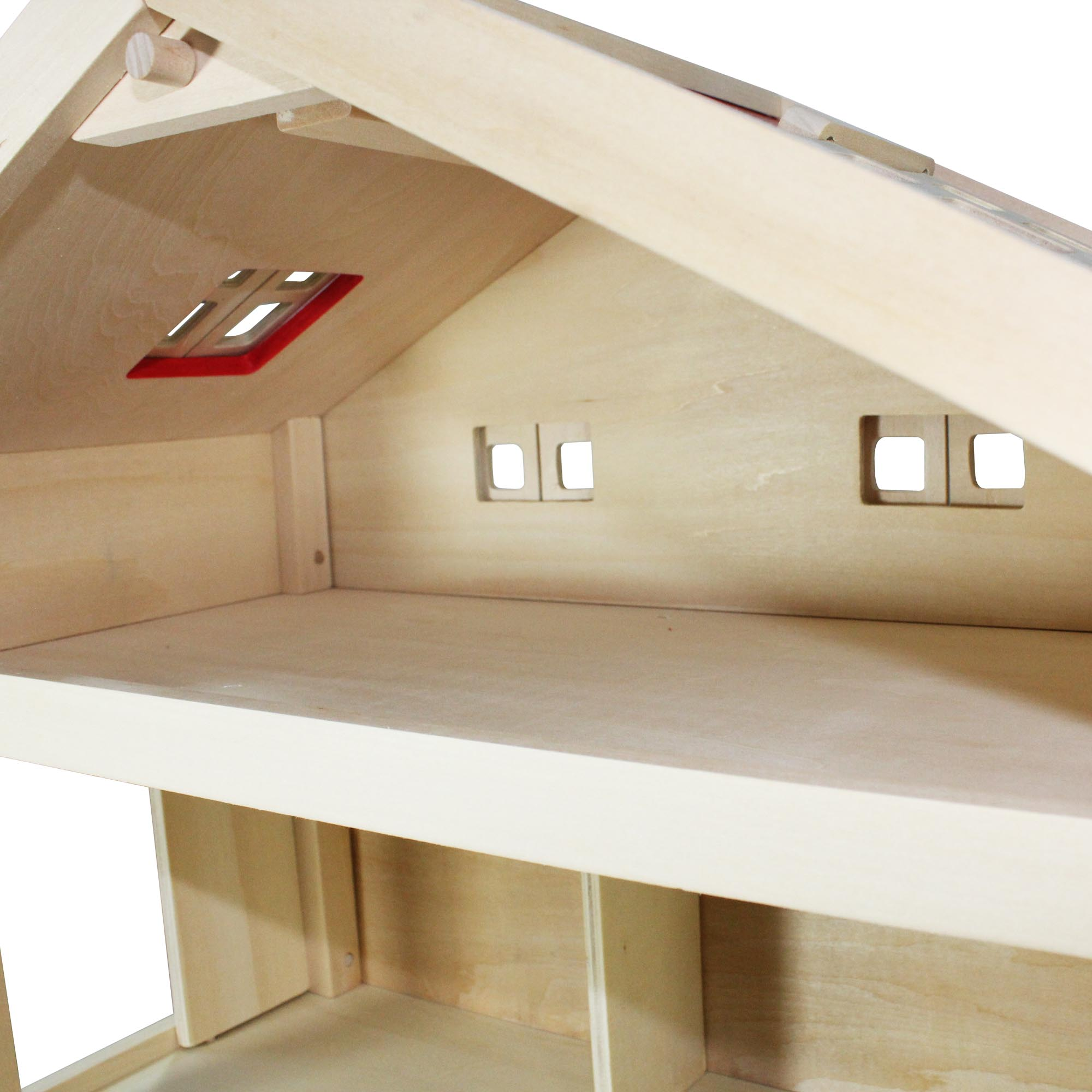 villa freda puppenhaus stadtvilla aus holz mit 3 etagen. Black Bedroom Furniture Sets. Home Design Ideas