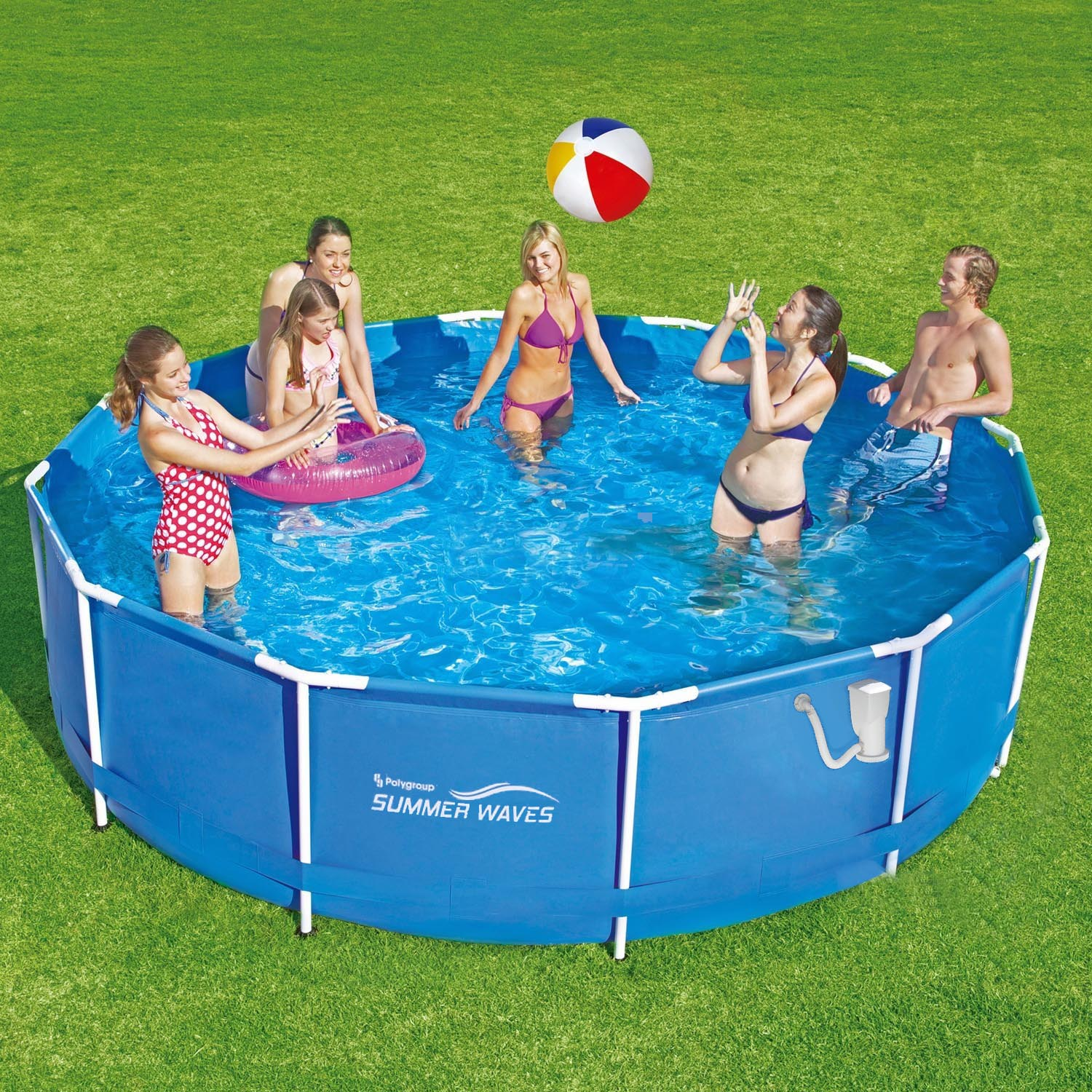 Summer Waves Frame Pool 366x91cm Rahmen Swimming Pool Schwimmbad ...