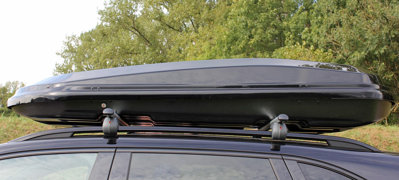 coffre de toit vdp mab450 noir brillant la voiture valise bagages refermable ebay. Black Bedroom Furniture Sets. Home Design Ideas