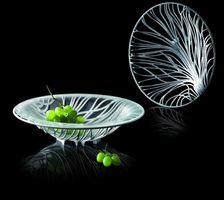 Bugatti FLORA Obstschale Acryl weiß ohne Glaseinsatz – Bild 2