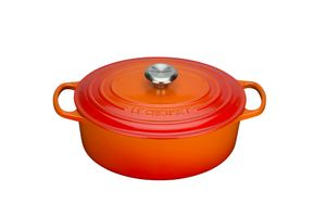 Le Creuset Bräter oval Signature 27 cm ofenrot