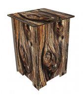 Photohocker Beistelltisch Motiv Holz