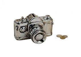 Keramik Spardose Kamera Fotoapparat