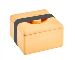 Lunchbox eckig 13 x 13 cm Natur Design Farbe orange