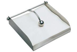 Serviettenhalter aus Edelstahl 17 x 17 cm