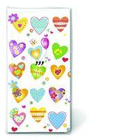 Paper & Design Taschentücher Motiv bunte Herzen