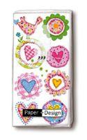 Paper & Design Taschentücher Motiv schöne Herzen Lovely hearts