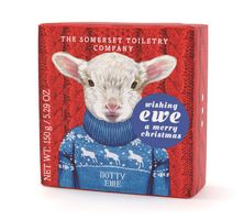 The Somerset Toiletry Seife mit winterlichem Tiermotiv Schaf Dotty 150 g