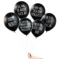 Pechkeks Anti Party Luftballons Set mit 6 verschiedenen Motiven