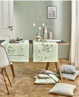 Sander Tischläufer Motiv Magnolia Farbe aqua/mint Größe 40 x 100 cm – Bild 2