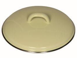 Riess Deckel zu Kasserolle mit Chromrand 16 cm gelb