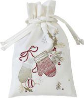 Sander Weihnachten Stickerei Motiv X-Mas Gloves Säckchen Geschenkbeutel 20 x 30 cm Farbnummer 29