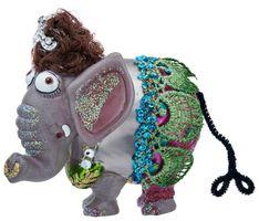Gift Company x-mas Deko Hänger Christbaumschmuck Motiv Elefantendame Glas