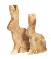 WMG Hase Pappel natur raue Oberfläche Höhe 65 cm Ostern