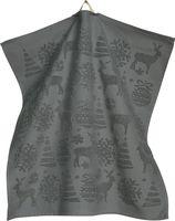 Sander Küchentuch Frottier Handtuch 50 x 50 cm Motiv Sleigh Ride Weihnachten Farbe Silber
