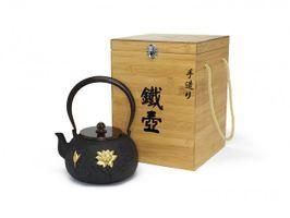 Bredemeijer Gusseisen Teekanne Pure Lotus 1,4 Liter rund schwarz gold – Bild 2