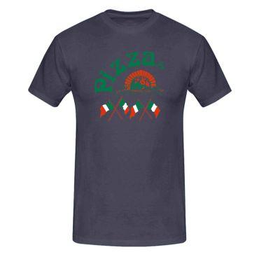 T-Shirt Pizzeria Pizza-Lovers Karneval Fun-Shirt Party 13 Farben Herren XS - 5XL – Bild 6