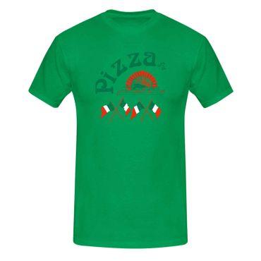 T-Shirt Pizzeria Pizza-Lovers Karneval Fun-Shirt Party 13 Farben Herren XS - 5XL – Bild 10