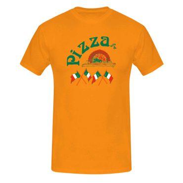 T-Shirt Pizzeria Pizza-Lovers Karneval Fun-Shirt Party 13 Farben Herren XS - 5XL – Bild 14