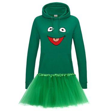 Hoodie Frosch Kostüm Set + Tütü Tüllrock Karneval Sesamstraße Damen XS - 2XL – Bild 3