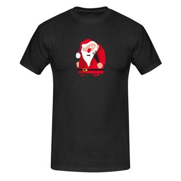 T-Shirt Weihnachtsmann Rute Christmas Weihnachten Advent 13 Farben Herren XS-5XL – Bild 3