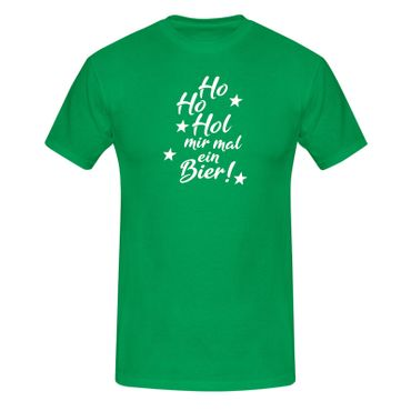 T-Shirt Ho Hol mir Bier Weihnachten Xmas Christmas Santa 13 Farben Herren XS-5XL – Bild 10