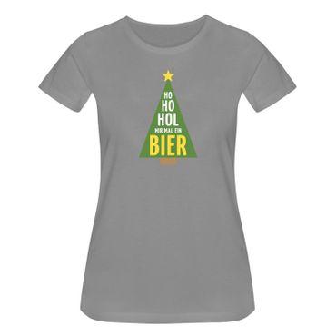 T-Shirt Ho Hol mir Bier Weihnachtsbaum Weihnachten Santa 15 Farben Damen XS-3XL – Bild 7