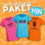 Blind-Buying T-Shirts Fun & Party Damen 3 Stk. Überraschungs-Shirts in Eurer Wunschgröße XS bis 3XL 001