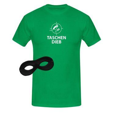 T-Shirt Taschendieb + Maske Verkleidung Kostüm Karneval 13 Farben Herren XS-5XL – Bild 10