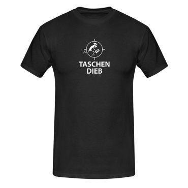T-Shirt Taschendieb + Maske Verkleidung Kostüm Karneval 13 Farben Herren XS-5XL – Bild 16