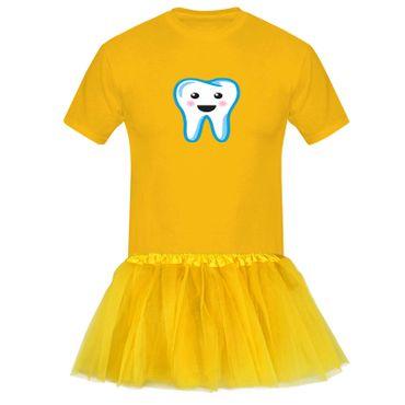 T-Shirt Zahnfee + Tütü Tüllrock Kostüm Fasching Karneval 13 Farben Herren XS-5XL – Bild 1