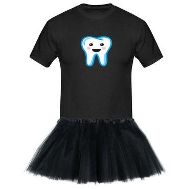 T-Shirt Zahnfee + Tütü Tüllrock Kostüm Fasching Karneval 13 Farben Herren XS-5XL – Bild 3