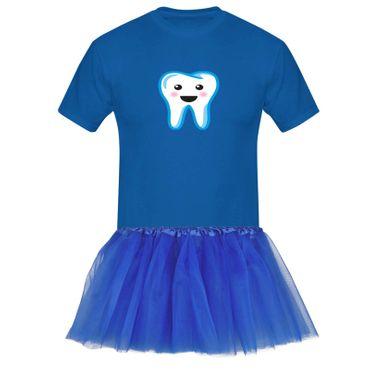 T-Shirt Zahnfee + Tütü Tüllrock Kostüm Fasching Karneval 13 Farben Herren XS-5XL – Bild 7