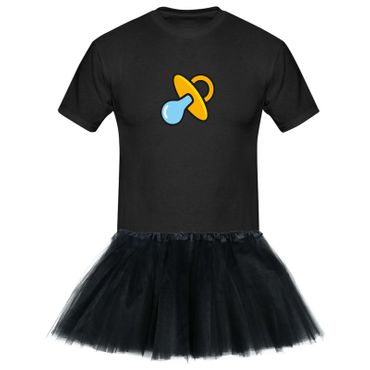 T-Shirt Schnullerfee + Tütü Tüllrock Karneval Kostüm süß 13 Farben Herren XS-5XL – Bild 3